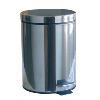 koš odpadkový nášlapný 20l kulatý nerez, s vložkou plastový