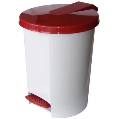 koš odpadkový nášlapný VOX 16l kulatý s vložkou, plastový - mix barev