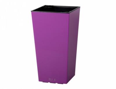Obal na květník ELISE plast fialovo růžový lesklý 25x25x46cm