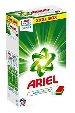 Prací prostředek Ariel Color na barevné 5,6kg 80dávek