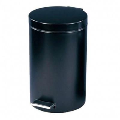 koš odpadkový 3l nášlapný kulatý kov. ČER, s vložkou plastový