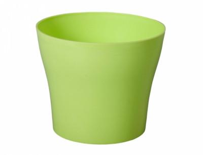 Obal na květník TULIPAN plast zelený lesklý d15x13cm