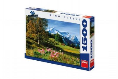 Puzzle Bavorské Alpy 84x60cm 1500dílků