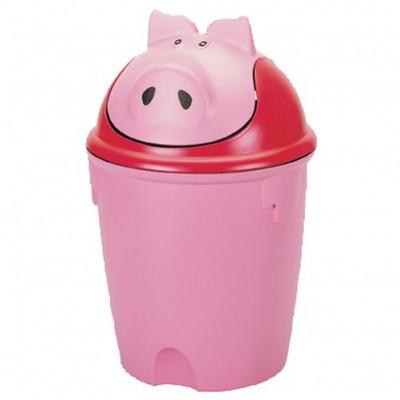 koš odpadkový dětský PRASÁTKO výklopný 12l kulatý plastový