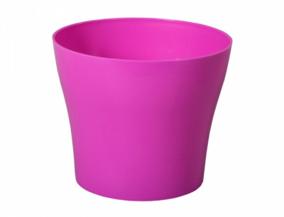 Obal na květník TULIPAN plast fialovo růžový lesklý d17x15cm
