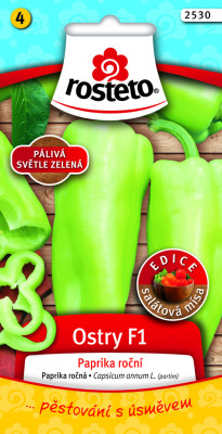 Rosteto Paprika zeleninová pálivá F1 - Ostry F1 na pole i k rychlení 10s