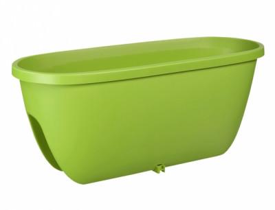 Truhlík BALCONIA na zábradlí plastový zelený 60cm