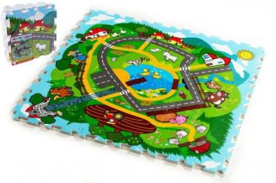 Pěnové puzzle Město Moje první zvířátka 9ks MPZ