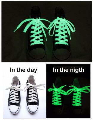 Svítící tkaničky do bot - bílé