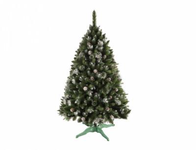 Stromek umělý vánoční se šiškami + stojan 220cm