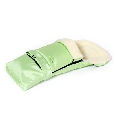 Zimní fusak 3v1 Siberia, ovčí vlna, světle zelený, Cuculo