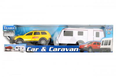 Teama 1:32 Auto s karavanem - mix variant či barev