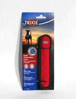 Potah blikací na obojek/vodítko černo/červený 16cm TR