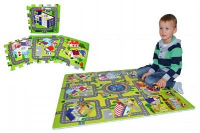Pěnové puzzle Město 32x32cm