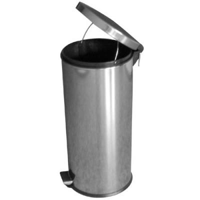 koš odpadkový nášlapný 30l kulatý nerez, s vložkou plastový