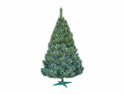Stromek BOROVICE umělý vánoční s bílými konci + stojan 220cm