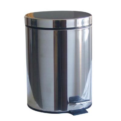 koš odpadkový nášlapný 5l kulatý nerez, s vložkou plastový