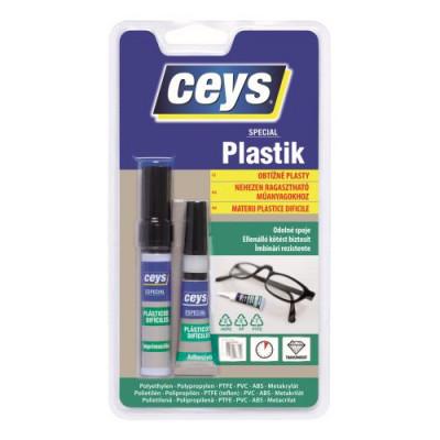 lepidlo na obtížné plasty 3g + 2ml CEYS