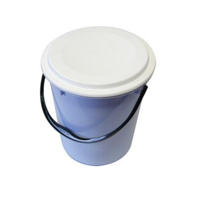 vědro s víkem 10l s měrkou plastové - mix barev