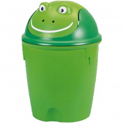 koš odpadkový dětský ŽÁBA výklopný 12l kulatý plastový