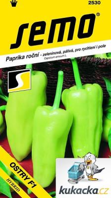 Semo Paprika zeleninová pálivá F1 - Ostry F1 na pole i k rychlení 15s /SHU 650/