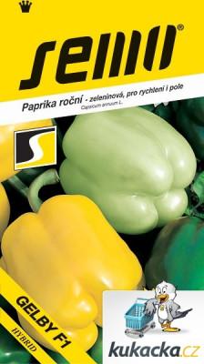 Semo Paprika zeleninová sladká F1 - Gelby F1 na pole i k rychlení 15s
