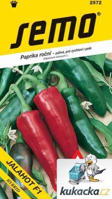 Semo Paprika zeleninová pálivá F1 - Jalahot F1 na pole i k rychlení 15s /SHU 10 000/