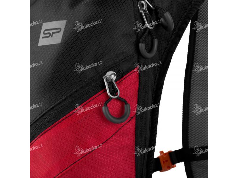 8ef1e66fe Spokey SPRINTER Cyklistický a běžecký batoh 5l černo/červený, voděodolný.  detail detail detail ...