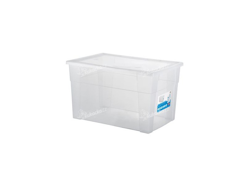 564decb0b box úložný SCATOLA 62l, 60x40x35cm s víkem plastový, TRA - mix variant či  barev