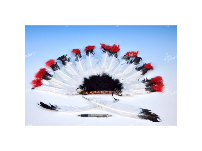 0f3744457ae Indiánská čelenka 60x35cm v sáčku karneval