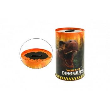 Pokladnička plech dinosaurus 10x15cm