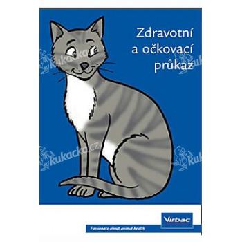 Očkovací a zdravotní průkaz Virbac s obalem kočka 1ks