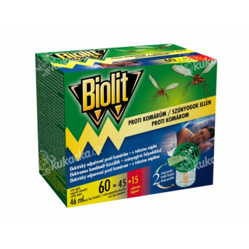 Odpařovač BIOLIT elektrický proti komárům 60 nocí 46ml