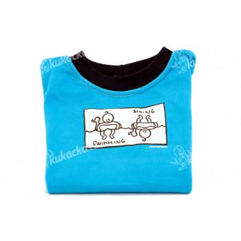 Dětské tričko Mayaka s dlouhým rukávem Swimming/Diving - tyrkysové Vhodné pro věk 6-12 měsíců - VÝPRODEJ
