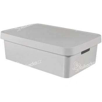 box úložný INFINITY 56,2x38,5x18cm s víkem, plastový, ŠE - VÝPRODEJ
