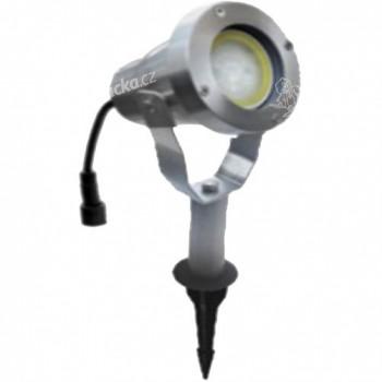 svítidlo LED 4W,320lm, MR20, IP67,3000K, teplé, Al ŠE, zapichovací