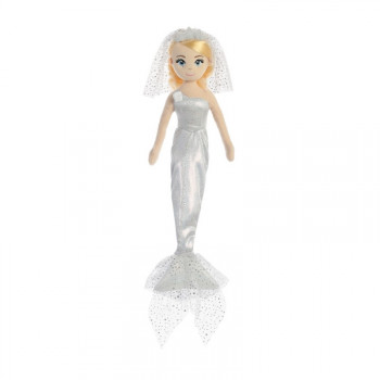 Látková Mořská panna Třpytivá nevěsta 46 cm - VÝPRODEJ
