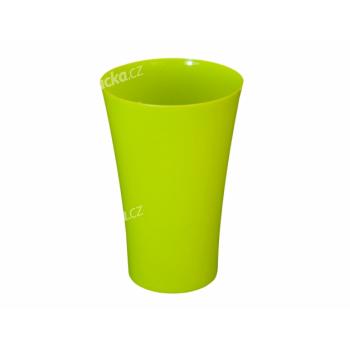 Obal na květník FLAKON ORCHIDEA plastový zelený d16x25cm - VÝPRODEJ