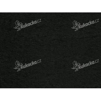 Prostěradlo Froté černé 90 x 200 cm, Kvalitex - VÝPRODEJ