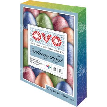 Barva na vajíčka OVO TŘPYT 4 barvy a 1 stříbrná třpytivá - VÝPRODEJ