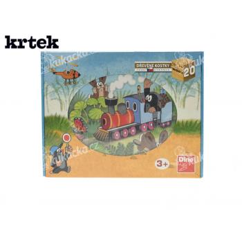 Dino Dřevěné kostky Krtek a dopravní prostředky