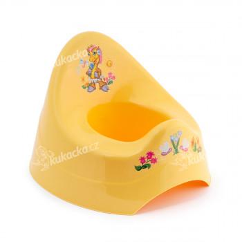 Dětský nočník, žlutý se žirafou, Cuculo - VÝPRODEJ