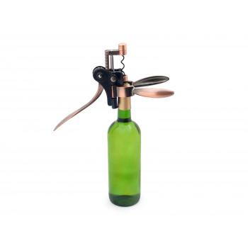 Pákový otvírák na víno - luxusní sada se stojánkem, náhradní vývrtkou a nožíkem na fólii Domestico