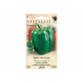 Osivo Paprika zeleninová raná GRANOVA, na pole - VÝPRODEJ