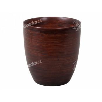 Obal na květník KODET WOOD keramický matný d20x21cm - VÝPRODEJ