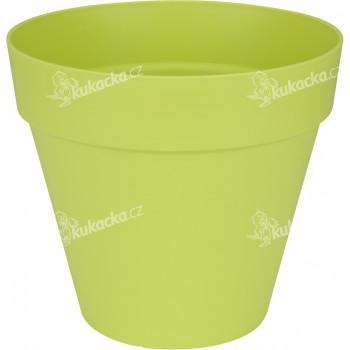 Elho květináč Loft Urban Round Wheels - lime green 40 cm - VÝPRODEJ