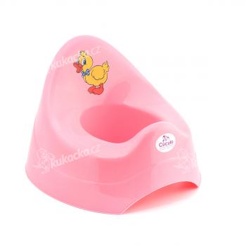 Dětský nočník, pastelově růžový s kačenkou, Cuculo - VÝPRODEJ