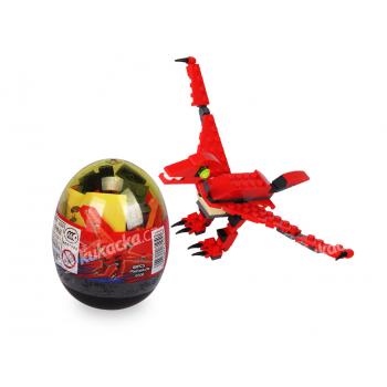 Stavebnice Wange – Dinosaur ve vejci (Pterosauria - červený)