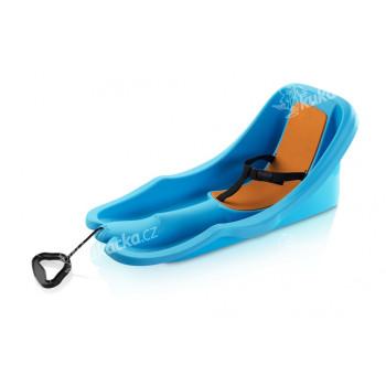 Baby rider modré s oranžovou sedačkou - VÝPRODEJ