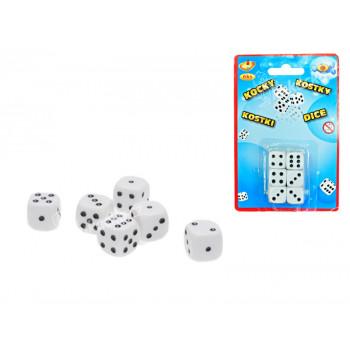 Kostky hrací 16 mm 6 ks